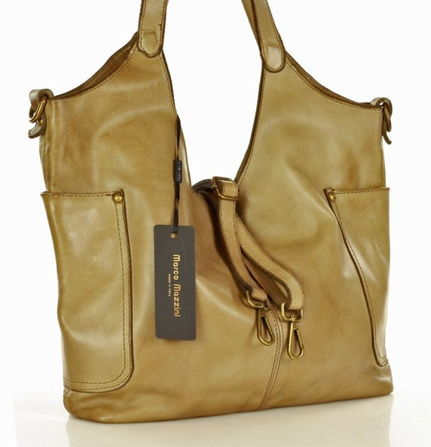 włoska torebka skórzana shopper handmade