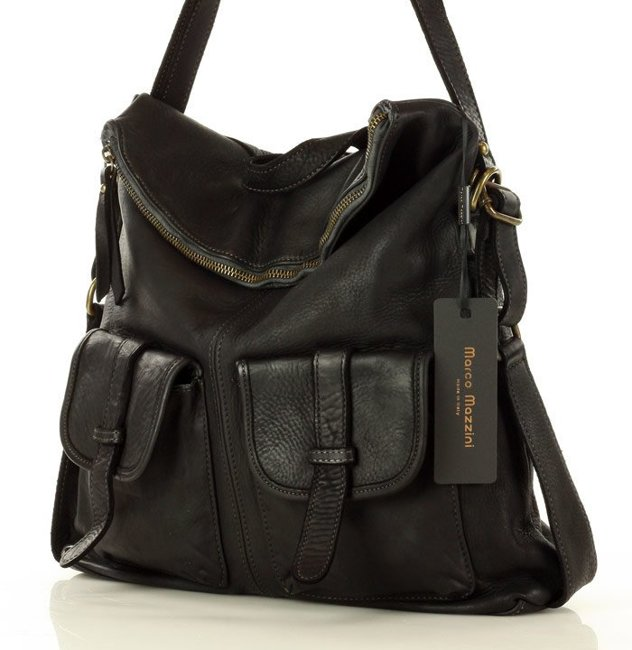 torebko-plecak skórzany