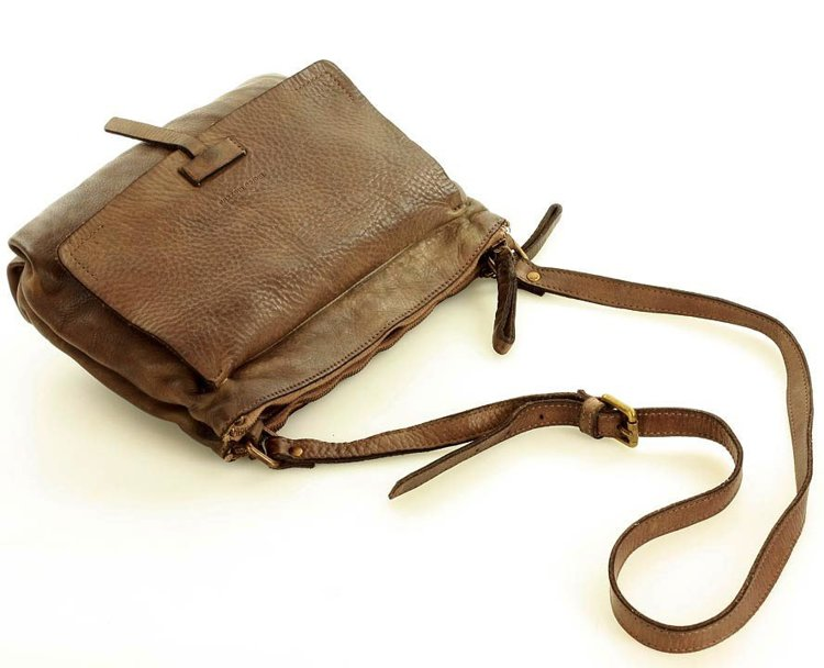 włoska torebka skórzana listonoszka handmade