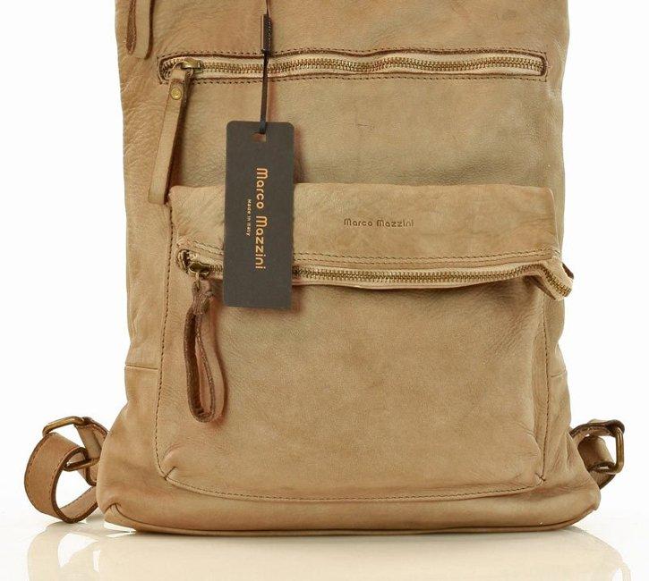 włoski plecak ze skóry naturalnej handmade