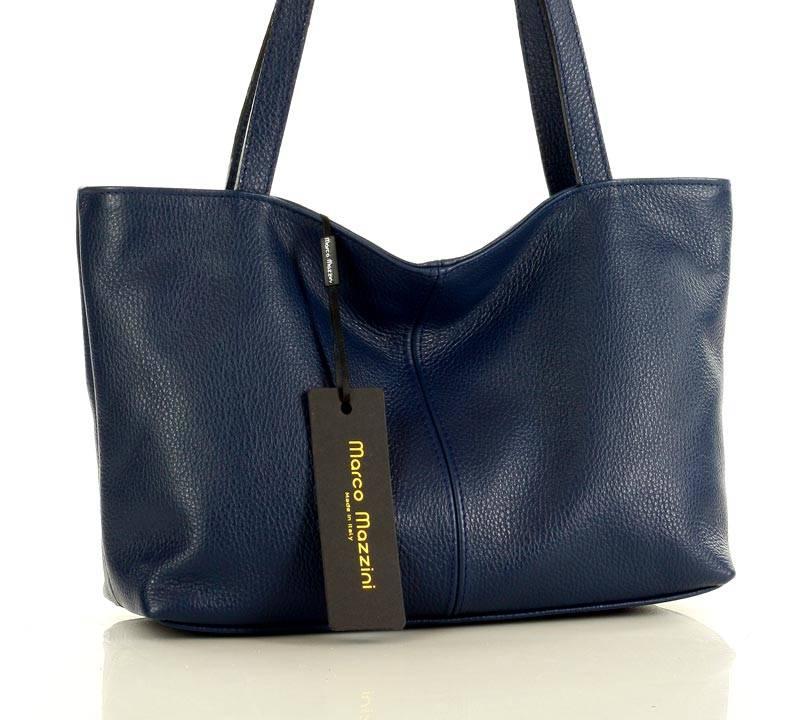 shopper torba skórzana