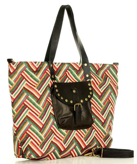 skórzany shopper bag